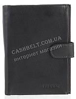 Прочное надежное стильное кожаное мужское портмоне-бумажник из мягкой кожи HASSION art. H-006 черный