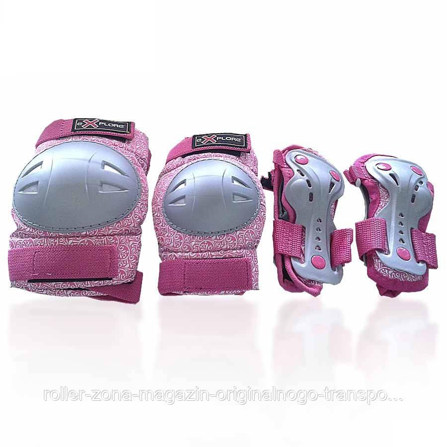 Защита для роликов детская AMZ-300 new розовая