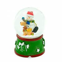Новогодние шары со снегом (отпускаются упаковками по 12 шт. (микс)