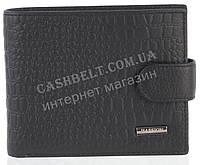 Прочный надежный стильный кожаный мужской кошелек из мягкой надежной кожи HASSION art. LF60 черный1
