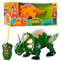 """Динозавр """"Дино"""" на радиоуправлении, ходит, музыка, свет, на батарейке, в кор-ке, 38-18,5-19см"""