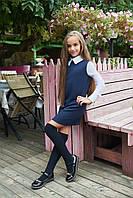 Школьное Платье с воротником рукав шифон