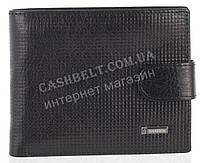 Прочный надежный стильный кожаный мужской кошелек из мягкой надежной кожи HASSION art. LF59 черный