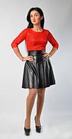 Изысконное платье красный верх и черный низ