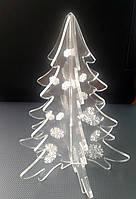 Новогодняя объёмная елка из оргстекла