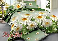 Комплект постельного белья 3D семейный, полиэстер. Постільна білизна. (арт.6220)