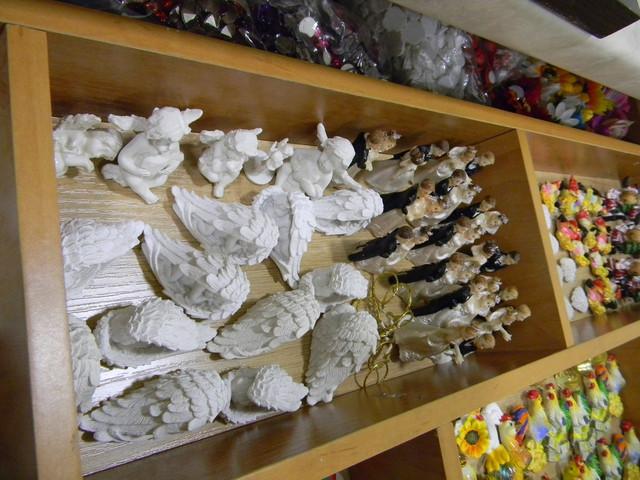 Ангелы из гипса для декорирования резных свечей, ручная робота.