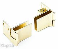 Петля для стекла угловая золото левая + правая 614 G3