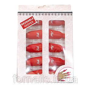 Прищепки для снятия гель-лака 10 шт, красные