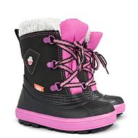 Детские зимние сапоги-дутики Demar (Демар) Billy B розовый-черный р.30--35 теплющие