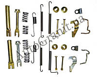 Монтаж задних колодок с распорками комплект AGAP 1124, CHERY QQ, S11-