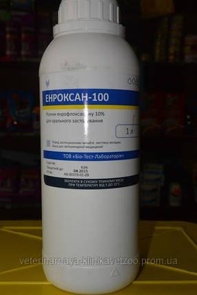 Энроксан-100 10 мл оральный раствор ветеринарный антибиотик широкого спектра действия, фото 2