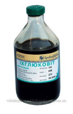Ихглюковит 100 мл (Бровафарма) комплексный противовоспалительный и антисептический препарат