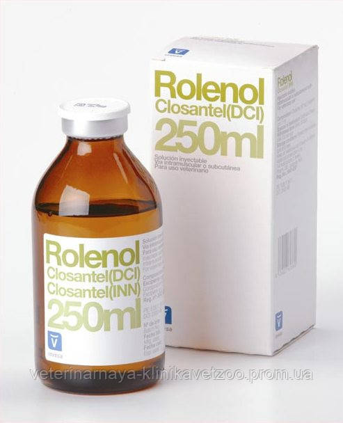 Роленол 250 мл Invesa (Испания) ветеринарный противопаразитарный препарат
