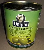 Oливки крупные Delphi green olives, Греция,  820g