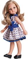 Кукла Карла в платье с синим бантом Paola Reina  (04506)