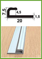 """СУ 4. Алюминиевый L-профиль  (внутри 4мм), анод """"Серебро"""", 3,0м"""