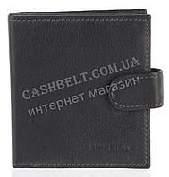 Прочный надежный стильный кожаный мужской кошелек c зажимом из мягкой надежной кожи HASSION art. H-040 черный