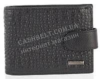 Прочный надежный стильный кожаный мужской кошелек c зажимом из мягкой надежной кожи HASSION art. LF71 черный