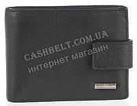 Прочный надежный стильный кожаный мужской кошелек c зажимом из мягкой надежной кожи HASSION art.LF302-4 черный