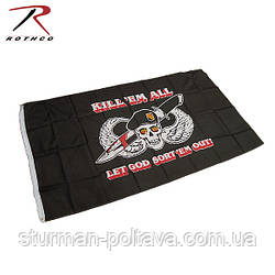 """Прапор СЗГ Спеціальних Сил Армії США """"Убий їх всіх..."""" розмір 150х90 USA"""