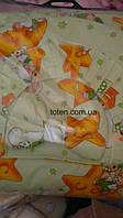 Детский постельный комплект 7 предметов Мишки на Луне