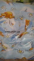 Детский постельный комплект 7 предметов Мишка на полянке
