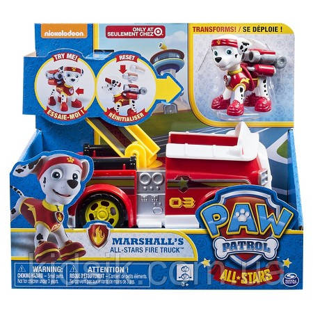 Игрушка Маршал , Спасение Супер Щена-Супергерои Щенячий патруль All Stars (PAW PATROL) , фото 1