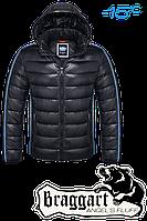 "NEW! Куртка зимняя мужская, пуховик Braggart ""Angel's fluff"" 1185 (темно-графитовый), р.S, M, L, XL, XXL, фото 1"
