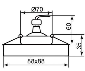 Cветильник точечный встраиваемый Feron 8180-2 под лампу MR16 прозрачный, фото 3