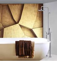 Напольная стойка в ванную комнату со смесителем краном, лейкой и верхним душем