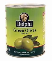 Oливки Delphi green olives, Греция, 820g