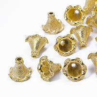 Конус Шапочки для Бусин, Металлические, Цвет: Золото, Размер: 22х21мм, Отверстие 3.5мм, (УТ0030391)