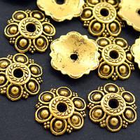 Шапочки для Бусин Металлические, Цветок, Цвет: Античное Золото, Размер: 14х3мм, Отверстие 2мм, (УТ000007881)