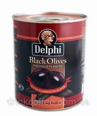 Маслины Delphi Black Olives, Греция, 820g