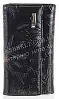 Стильная прочная лаковая надежная кожаная ключница HELEN VERDE art. HV-61 15 черный