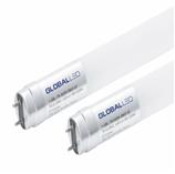 Лампа светодиодная Т8, 600мм, 8Вт, 800Лм, 6500К, Ra>70, стекло, одностороннее подключение GLOBAL