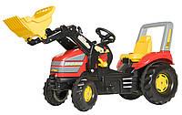 Педальный трактор с ковшом X-Trac Rolly Toys красный