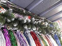 Гирлянда из веток ели Карпатская с шишками 3 метра