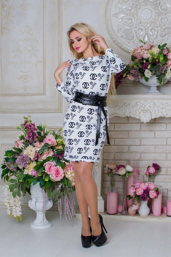 """Модное женское  белое платье Бирма Лайт CHANEL  Modus  44-48 размеры - Интернет-магазин одежды """"Варвара"""" в Сумской области"""