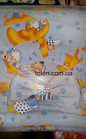 Детский постельный комплект 7 предметов Мишка на Луне