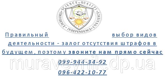 Регистрация ФЛП - виды деятельности