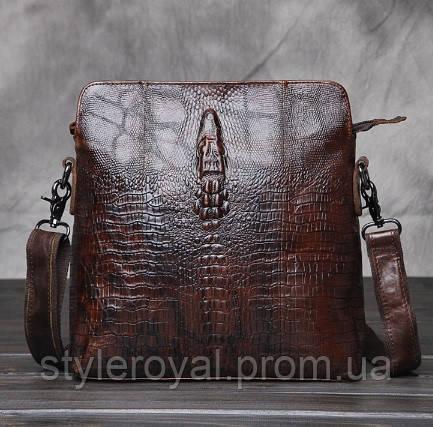 кожаная сумка с крокодилом