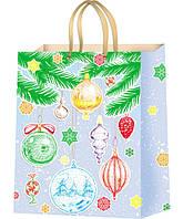 Подарочные пакеты Новогодние игрушки размер 44 х 32 см