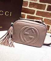 Женская сумка в стиле GUCCI SOHO DISCO PALE PINK BAG (3395), фото 1