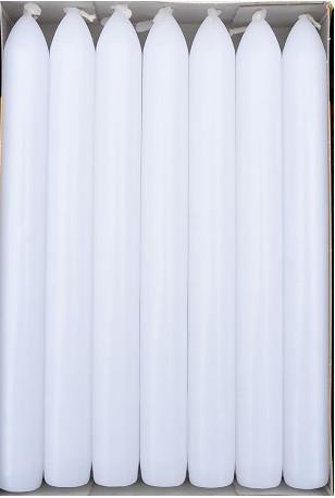 Свеча белая столовая 20 см 1 шт