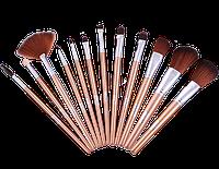 Набор кистей для макияжа 12 штук SB1211 (золотой) Relouis