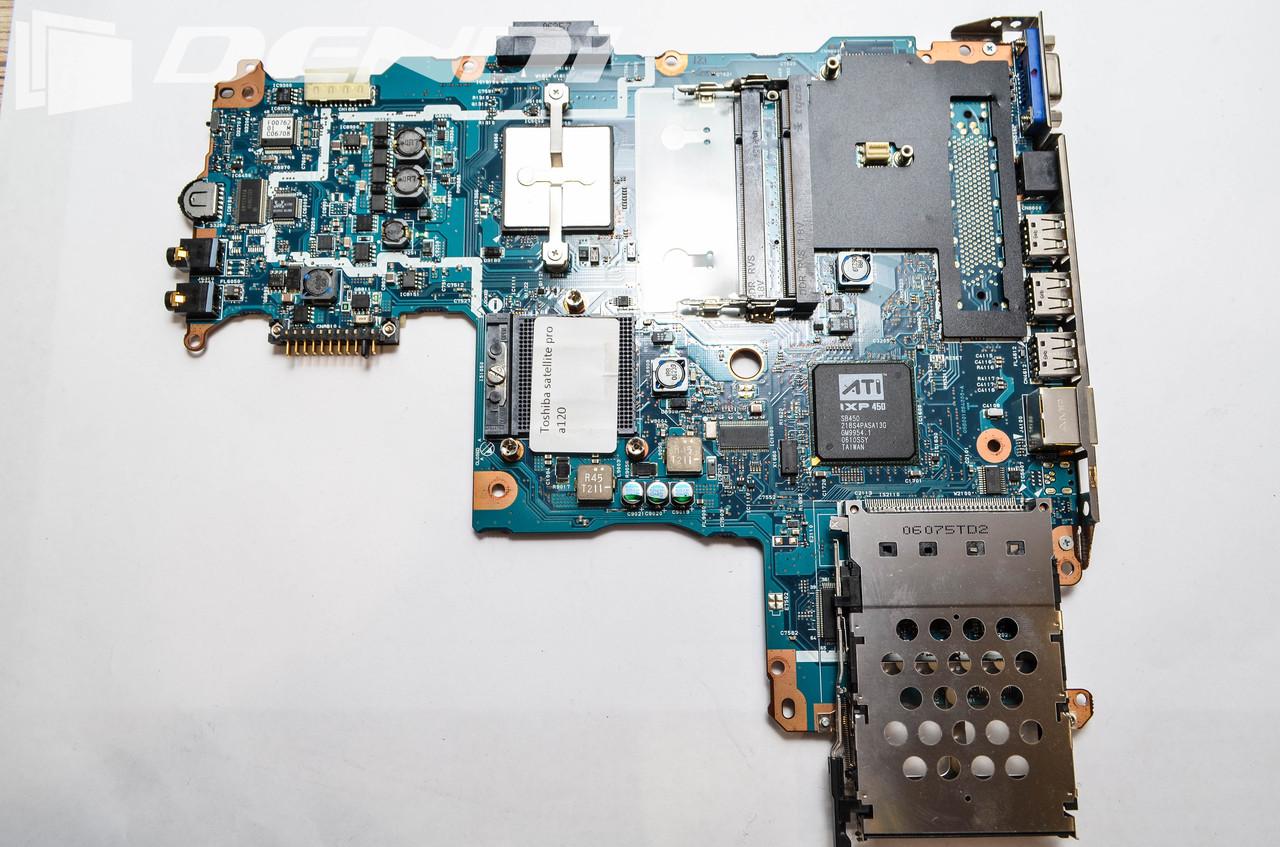 Материнская плата Toshiba Satellite pro A120 (В нерабочем состоянии. Под восстановление или на запча