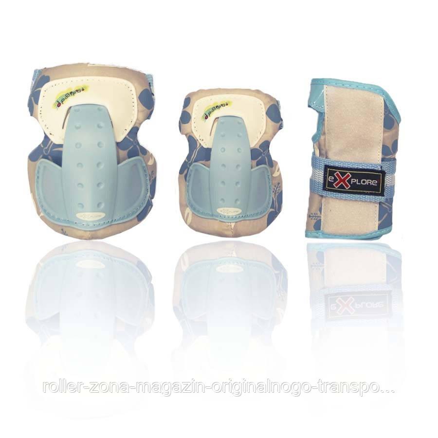 Защита для роликов детская SECURE голубая