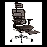Кресло компьютерное ERGOHUMAN PLUS c подставкой для ног, эргономичное, черного цвета, фото 1